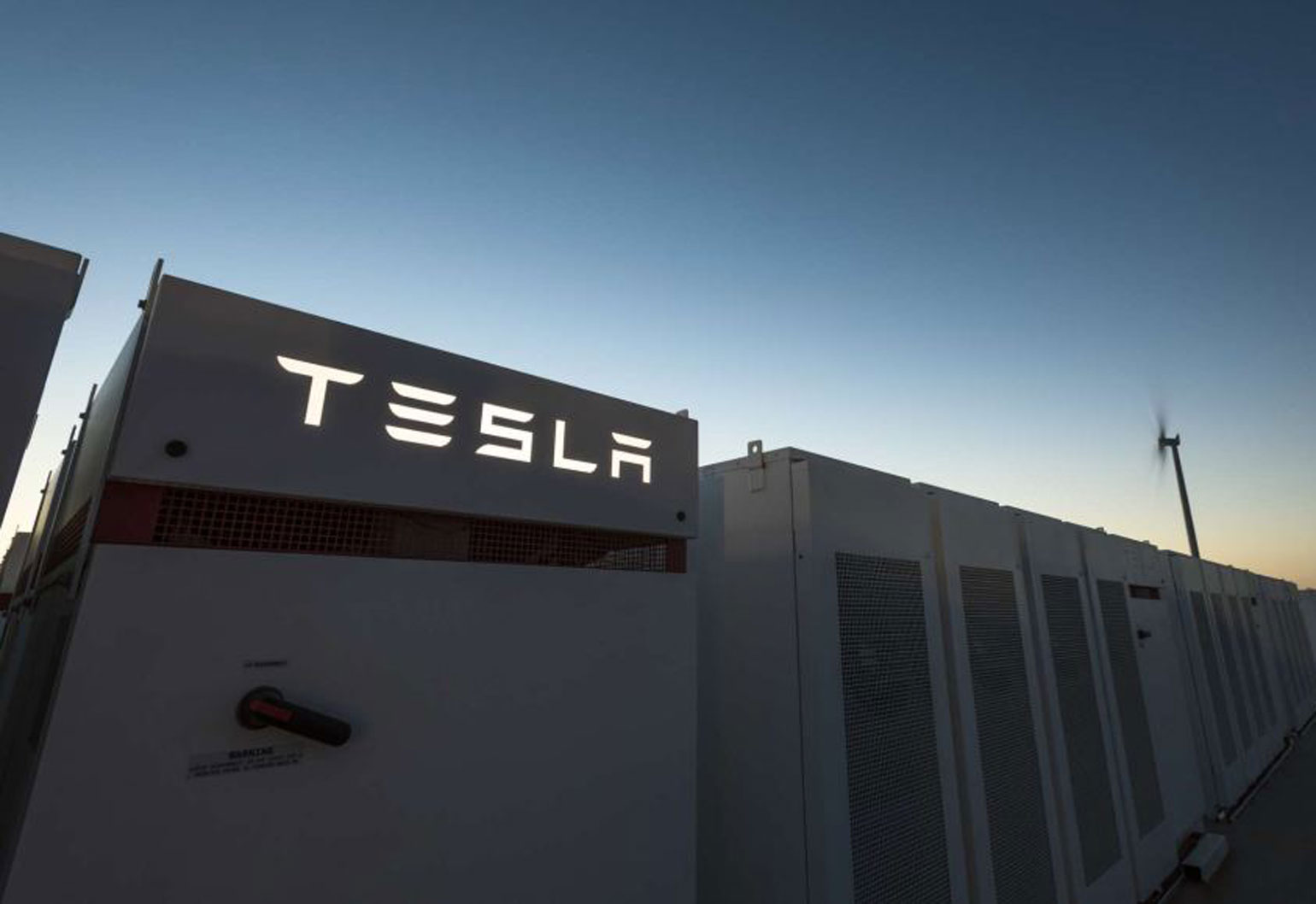 largest battery installed in South Australia by Tesla