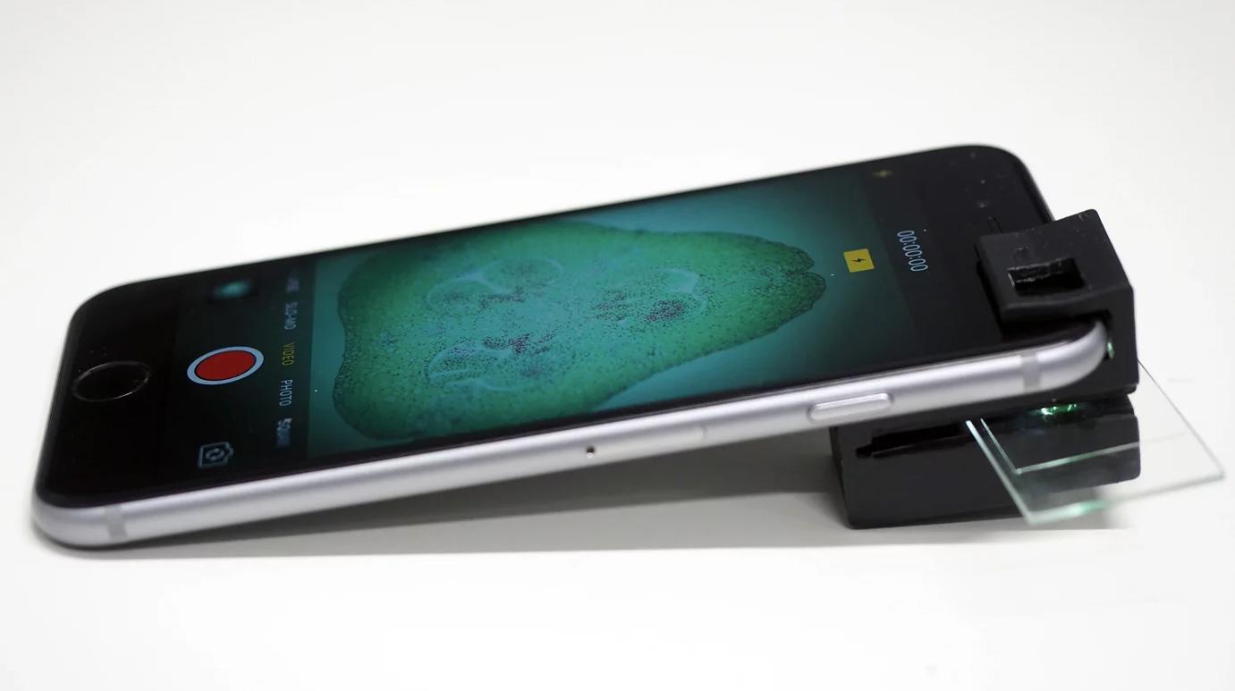 camera phone and microscope