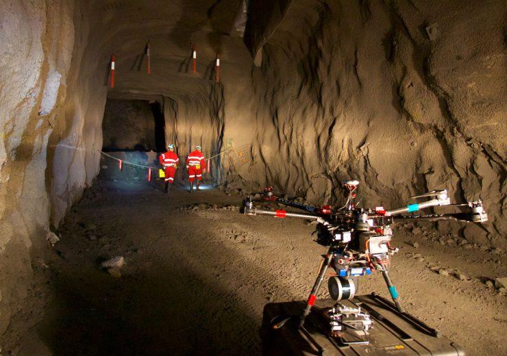 drone flying underground