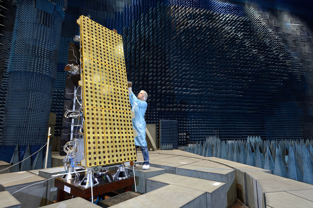 NovaSAR-1 satellite being tested
