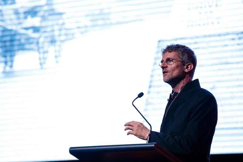 Professor Carlo Ratti, keynote speaker at the launch of the Flexible Cities report. (Photo: James Horan/Salini Impregilo)