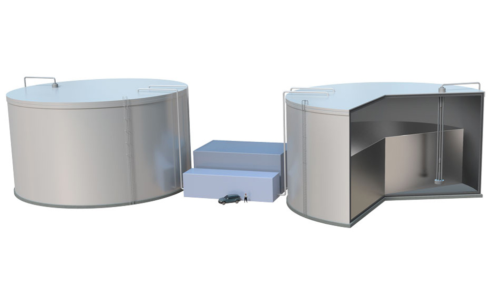 storing renewable energy with molten silicon 'Sun in a box""