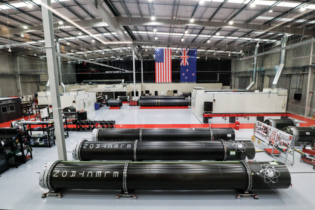 The Rocket Lab production floor