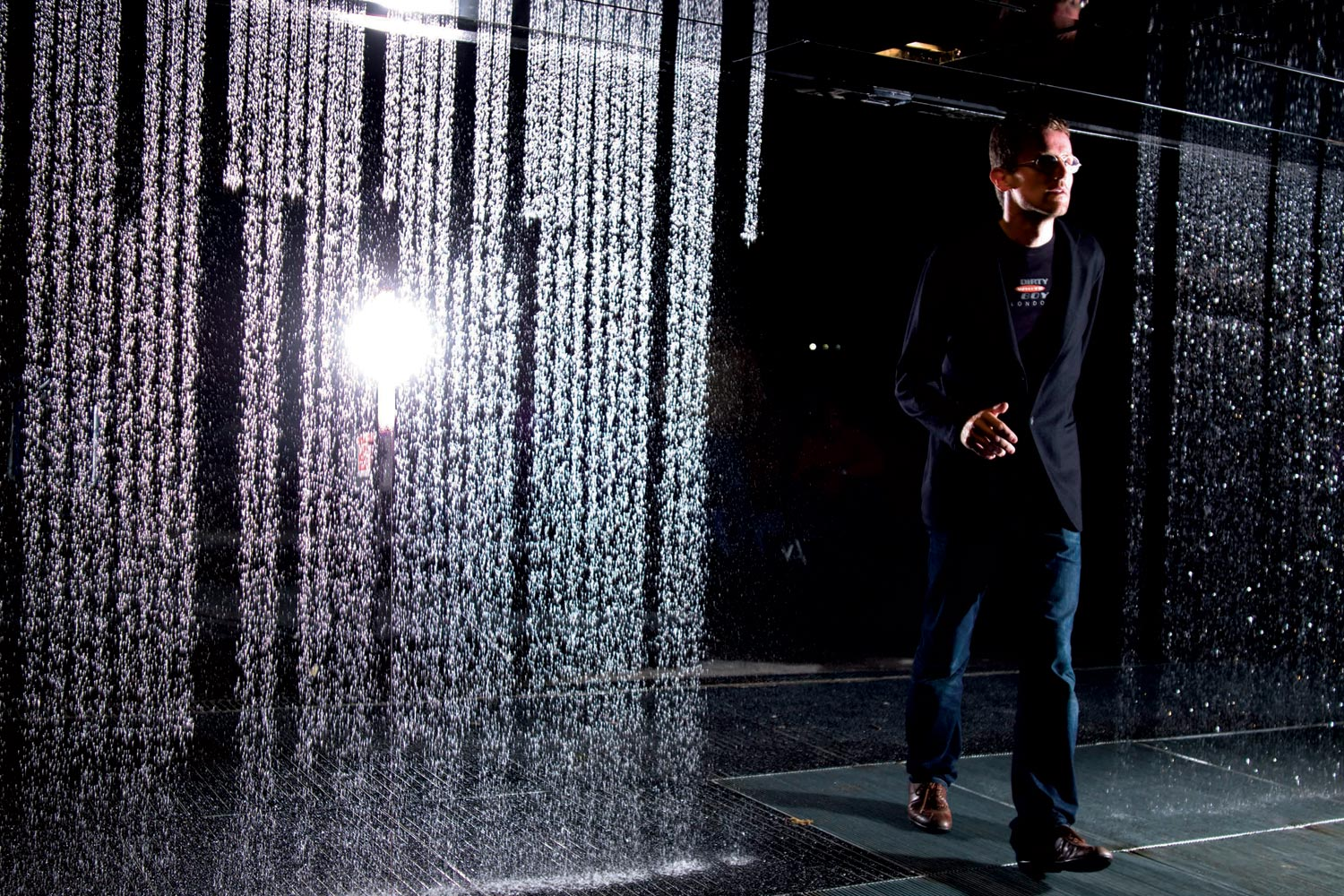 Carlo Ratti at one of his creations, the Digital Water Pavilion