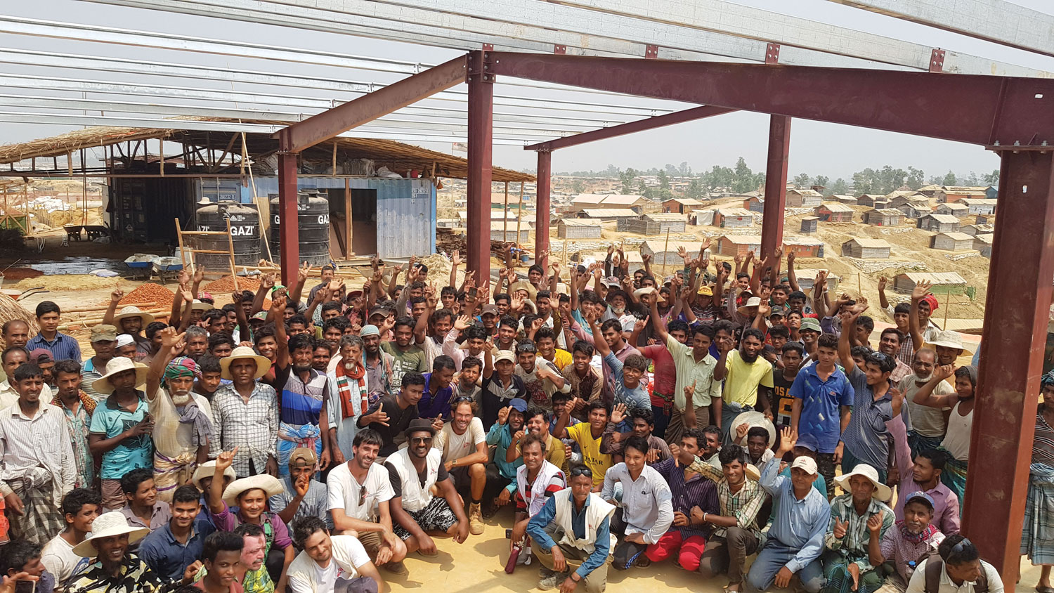 Building a hospital in the Rohingya refugee camp