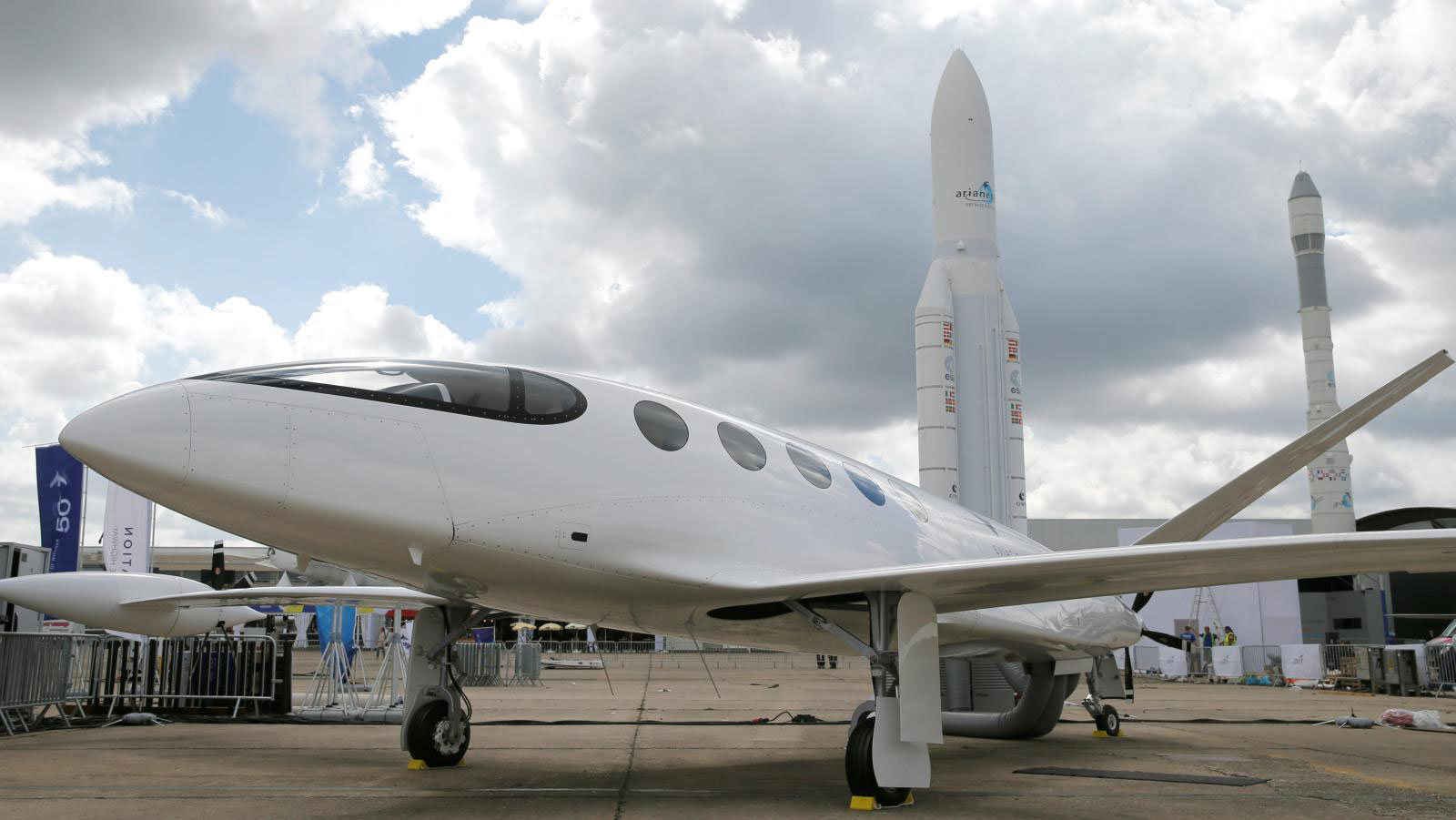 Electric plane Alice at the Paris International Airshow.