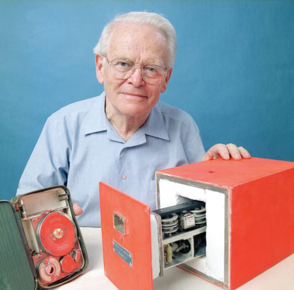 David Warren with a black box prototype