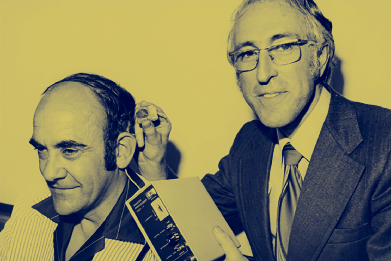 Graeme Clark and the first Cochlear implant recipient
