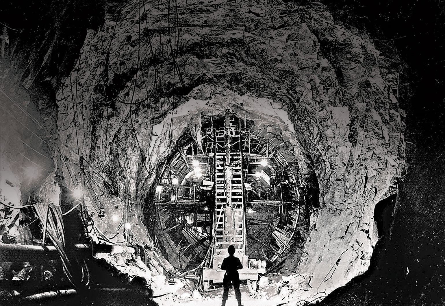 Tunnelling through the Snowy Mountains. (Image: National Archives of Australia/Fairfax Media)