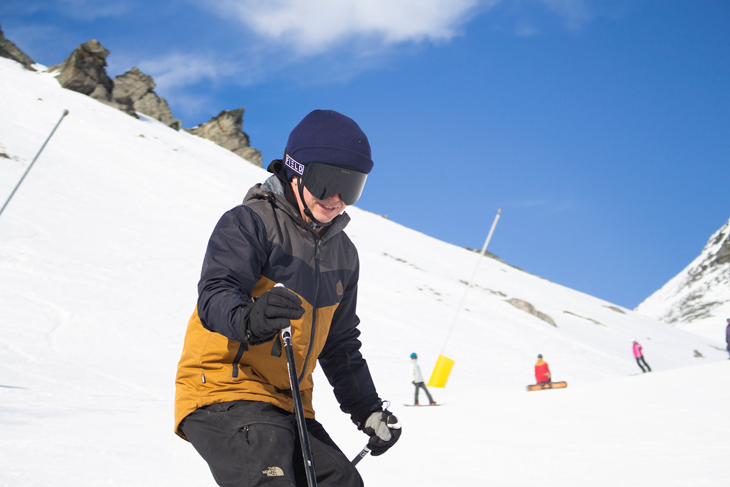 The Anti Ordinary A1 helmet out on the slopes. (Image: Robert Joseph/Anti Ordinary)