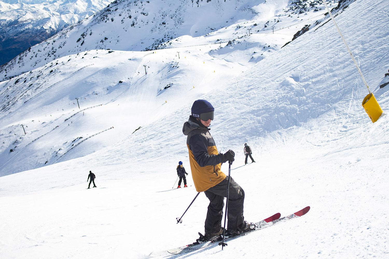 The Anti Ordinary A1 helmet out on the slopes. (Image: Robert Joseph/Anti Ordinary)