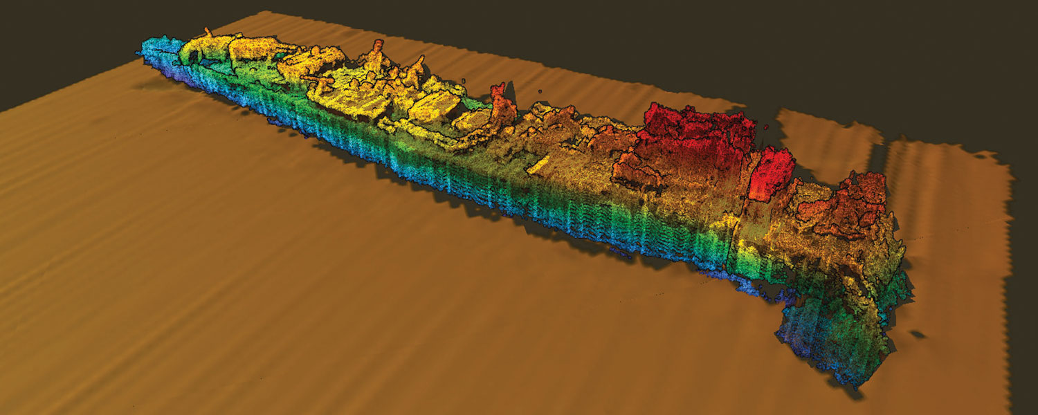 A multibeam sonar survey of the Sydney (II)