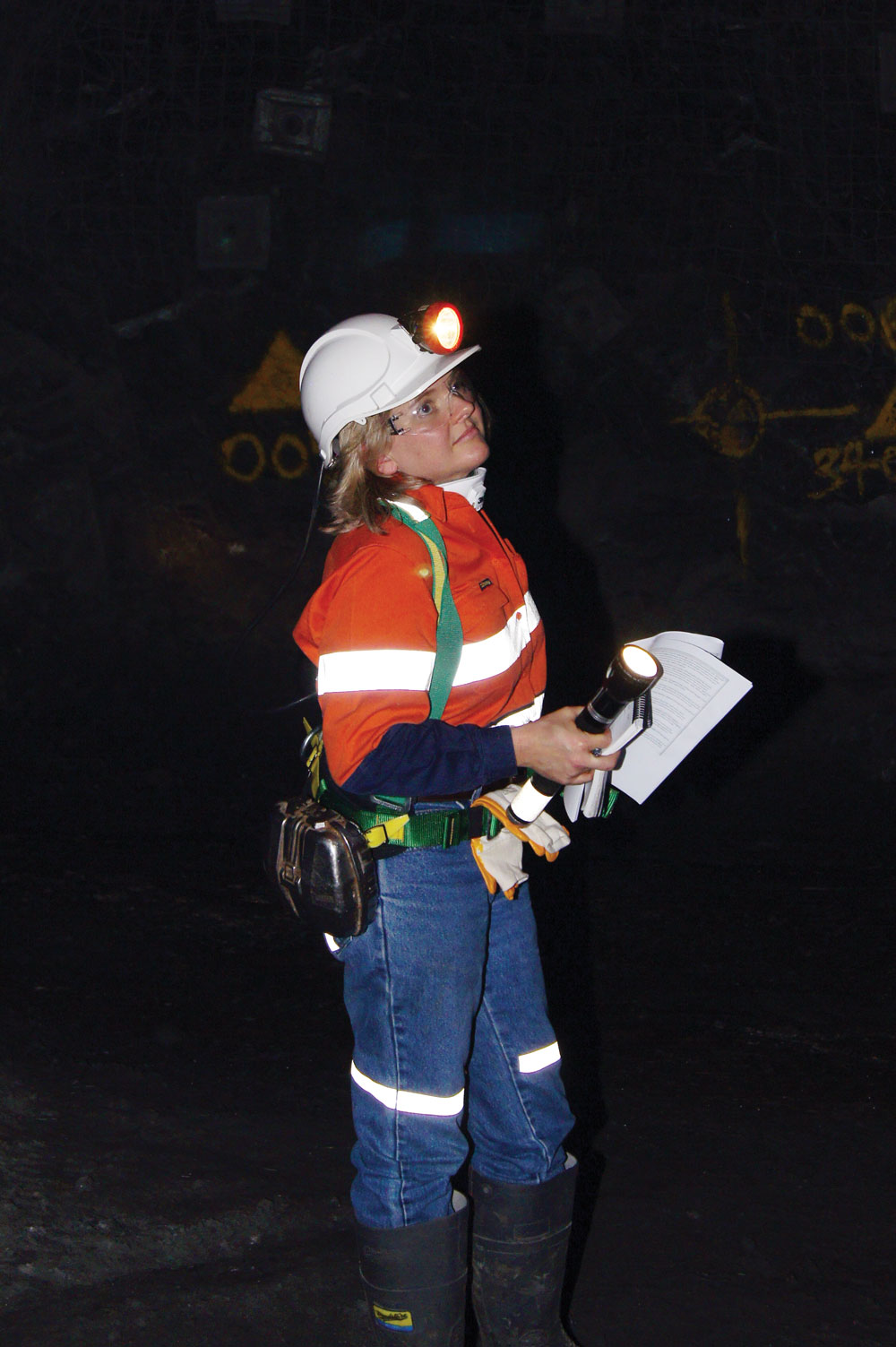 Atkins during a mine inspection