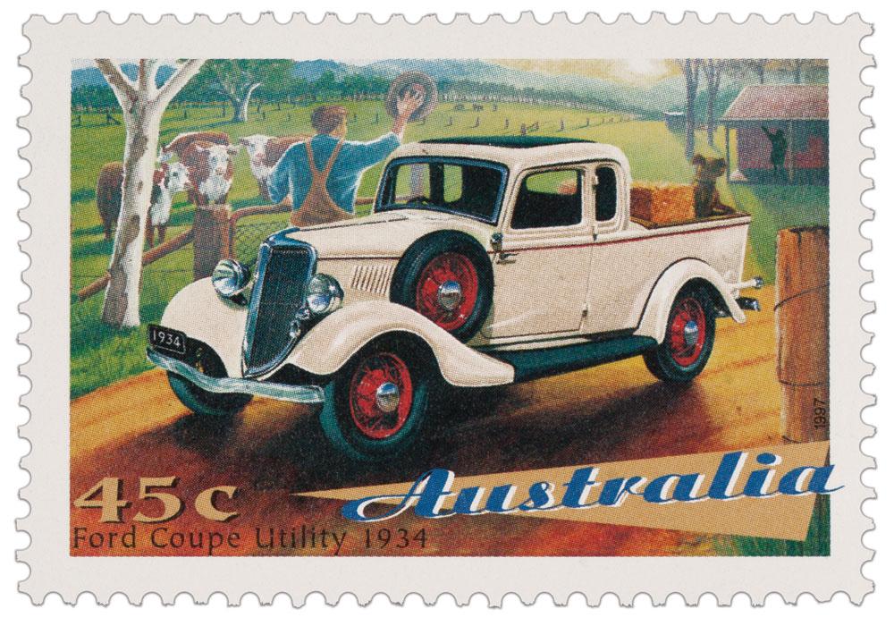 Ute on a 1997 Australian stamp