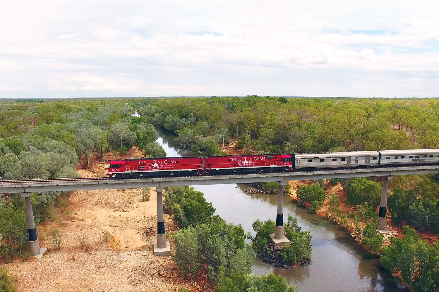 The Ghan over the Katherine River, NT
