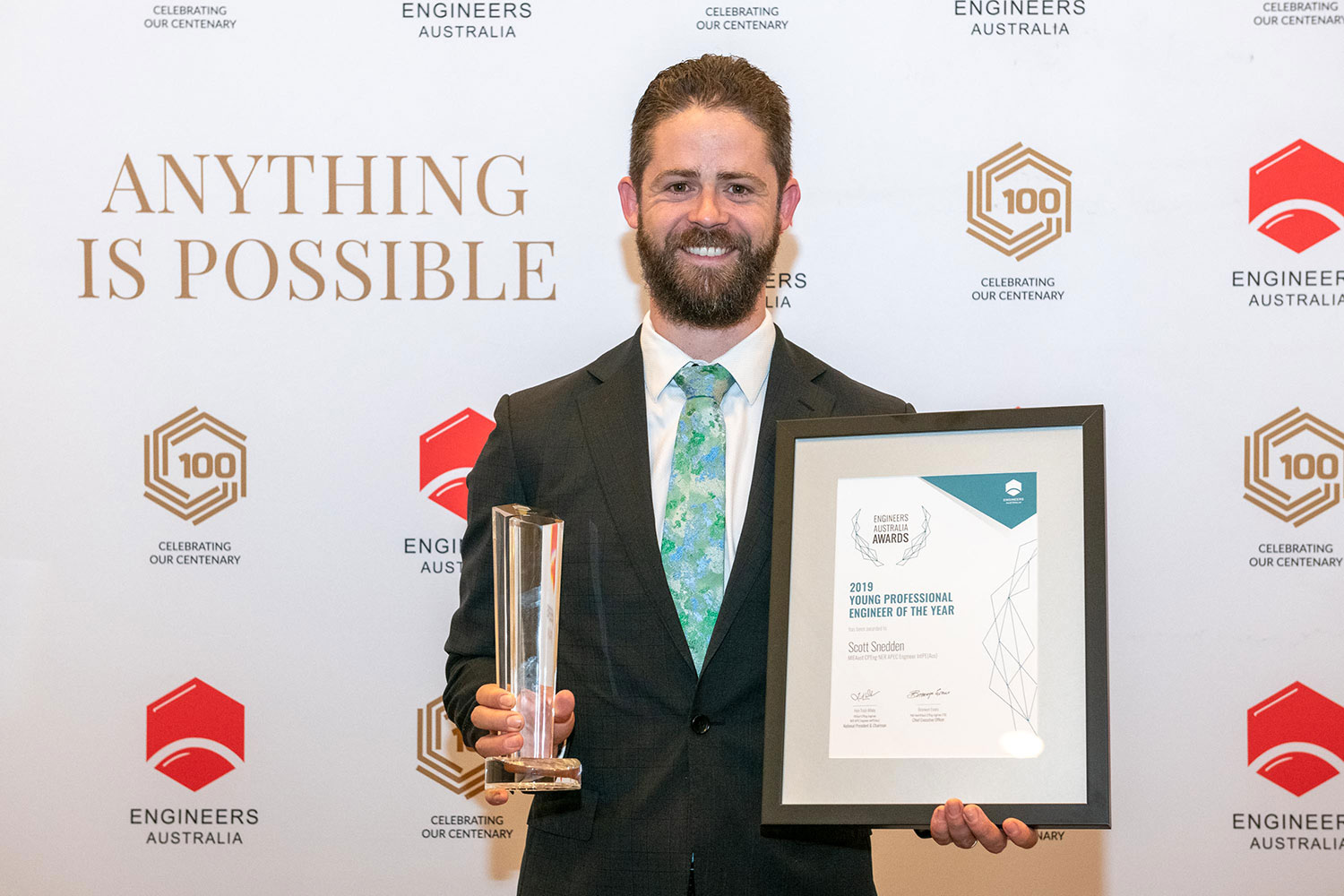 Young Engineering Professional of the Year Scott Snedden.