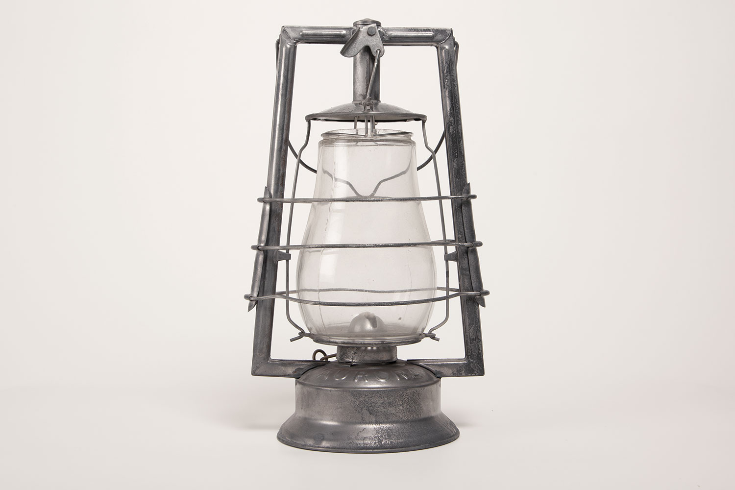 A hurricane lantern, from the 1940s.