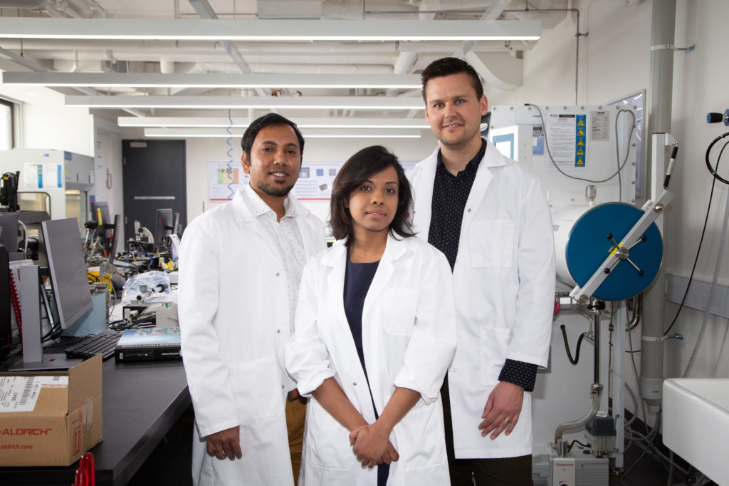 RMIT researchers Dr Robi Datta, Dr Nitu Syed and Dr Torben Daeneke. Image: RMIT