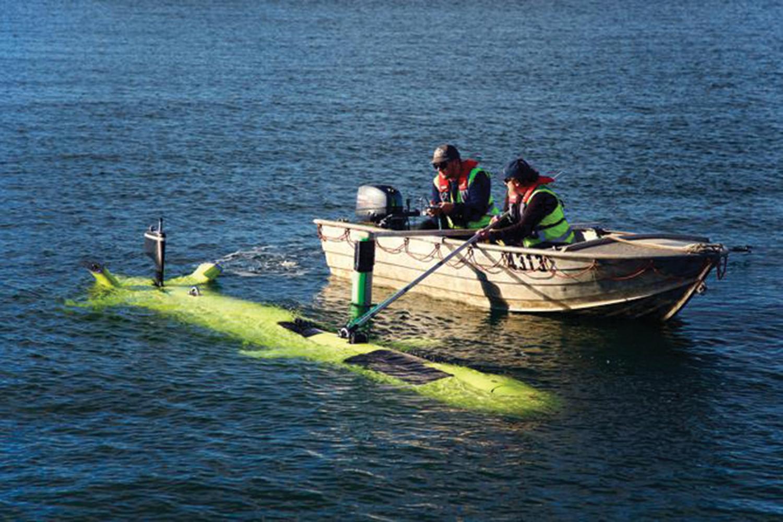Testing off Tasmania.