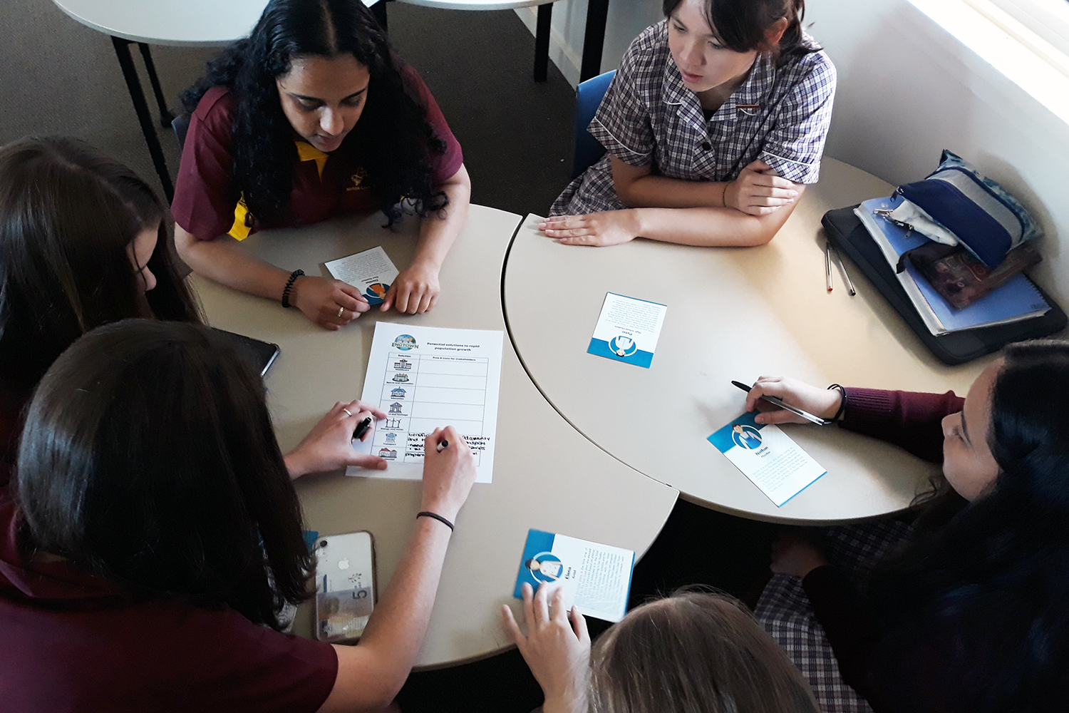 Students are tasked with solving engineering challenges related to population growth in the remote community of Engtown. (Image: Power of Engineering)