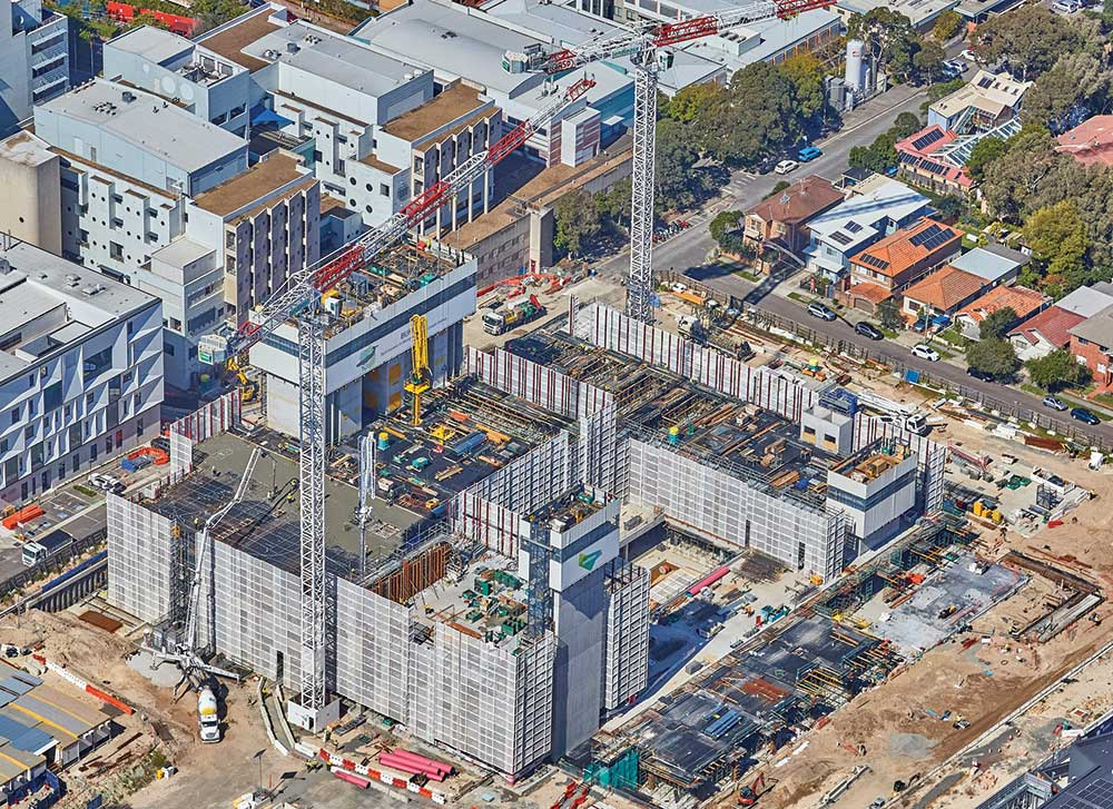 An aerial view of the Lendlease project in Randwick, which uses Jabin's services.